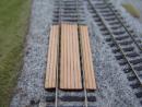 Einlagen für Bahnübergang, vermoderte Bretter, H0