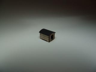 Hundehütte Holz, Tonnendach, H0 / H0e