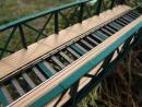 Eisenbahnbrücke H0, 10 Elemente, niedrig, eingleisig