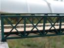 Eisenbahnbrücke H0, 6 Elemente, niedrig, eingleisig