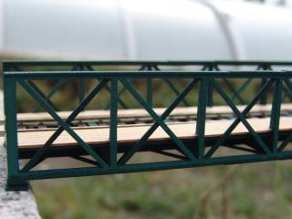 Eisenbahnbrücke H0, 4 Elemente, niedrig, eingleisig