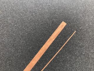 Mahagoniholzleiste 0,6 x 5,0 x 1000mm