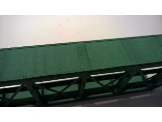 Eisenbahnbrücke H0, Blechträger, schräg links, eingleisig