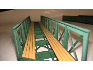 Eisenbahnbrücke H0 / 9 Elemente, schräg rechts, eingleisig