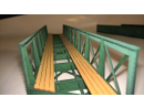 Eisenbahnbrücke H0 / 9 Elemente, schräg rechts,...