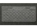 Loklaternenscheiben 3,4mm Durchmesser aus Acrylglas - 30 Stk