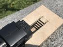 Putzgrube mit Holzboden - Endstück - H0