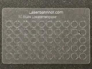 Loklaternenscheiben 3,5mm Durchmesser aus Acrylglas - 50 Stk