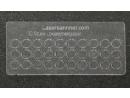 Loklaternenscheiben 3,5mm Durchmesser aus Acrylglas - 30 Stk