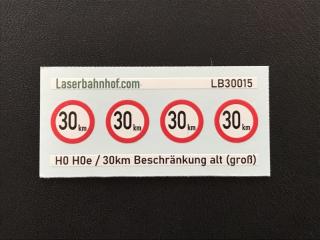 Geschwindigkeitsbeschränkung 30km alt groß - 7,8mm