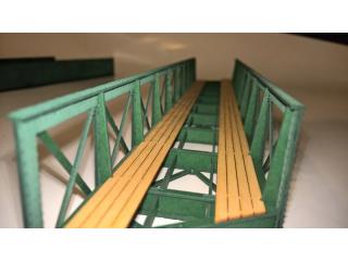 Eisenbahnbrücke H0e / 9 Elemente, schräg links, eingleisig